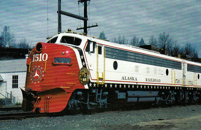 ALASKA RAILROAD - 1510/1512 - these Class FP7's have been reliveried to celebrate America's Bicentennial in 1976.