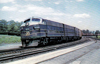 BALTIMORE & OHIO RAILROAD - 935 - seen here at Shenedoah Junction, Virginia, in 1955.