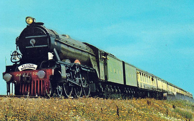 4472 FLYING SCOTSMAN passes MacAlaster, Oklahoma, whilst on tour in the USA in June 1970.