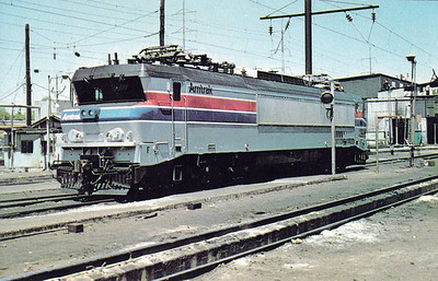 AMTRAK - X996 - ex-SNCF Class CC21000 no.21003, built 1974 by Alsthom, purchased in 1977 for experimental use on the New York - Washington DC line, seen here at Wilmington, De., in 05/77.