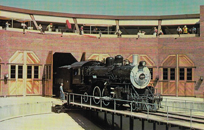 ATCHISON, TOPEKA & SANT FE RAILROAD - 1010 - a 2-6-2 loco built by Baldwin in 1901, seen here at the California State Railroad Museum at Sacramento for Railfair '81.