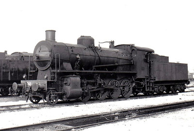 ITALY - FS - 740 254 - 2-8-0, 470 engines built by various builders between 1911 and 1923 for express goods duties, this engine in 1919 - seen here at Verona in 1967 - this engine is one of 17 of examples of this class preserved.