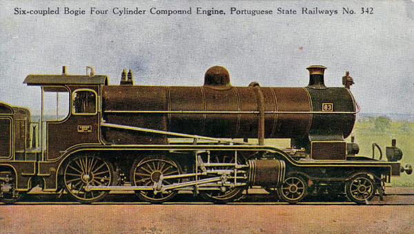 PORTUGAL - CP - 342 - a 4-cylinder compound 4-6-0 looking very British.