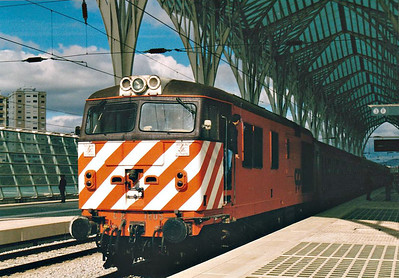PORTUGAL - CP - 1805 - 10 Class 1800 Co-Co diesel electric locos built in 1968 by English Electric - all now withdrawn but this one preserved.