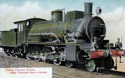 ITALY - FS - 4530 ISLANDA - a 4-8-0 used on heavy passenger trains to Brindisi.