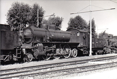 ITALY - FS - 680 037 - 4-cylinder 2-6-2, built 1907 for express passenger duties - seen here at Rome in 1967.