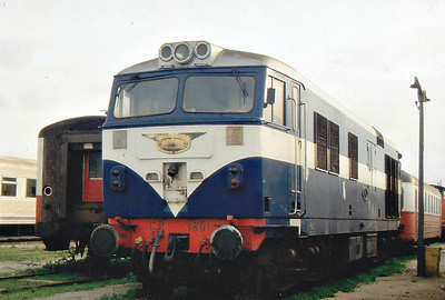 PORTUGAL - CP - 1801 - 10 Class 1800 Co-Co diesel electric locos built in 1968 by English Electric - all now withdrawn but one preserved.