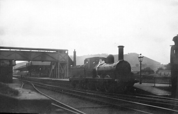 BISHOPS CASTLE RAILWAY - No.2 CARLISLE - 0-6-0 - built 1868 as 0-6-0ST by Kitson & Co. in 1868 for Thomas Nelson & Co. of Carlisle - acquired at unknown date - broken up in April 1937 upon closure - seen here at Craven Arms.