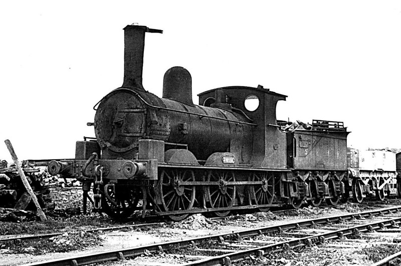 SHROPSHIRE & MONTGOMERYSHIRE LIGHT RAILWAY - No.6 THISBE - Beattie LSWR 'Ilfracombe Goods' 0-6-0 - built 1873 by Beyer Peacock Ltd. as LSWR No.283 - 05/16 sold to Colonel Stephens, initially for use on the K&ESR but eventually for the S&MLR - 1934 withdrawn - 1937 scrapped.<br /> The Shropshire & Montgomeryshire Light Railway was a railway running from Shrewsbury to Llanymynech, Wales, opened in 1911 with a branch to Criggion. It was part of Colonel Stephens' railway empire. The line was taken over by the War Department in 1941, and extensively reconstructed to serve Central Ammunition Depot Nesscliffe. It was finally closed in 1960.