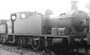 BURRY PORT & GWENDRAETH VALLEY RAILWAY - No.14 - 0-6-0T built 08/19 by Hudswell Clarke & Co. - 1922 to GWR as No.2167 - 02/53 withdrawn from 87F Llanelli - seen here as GWR No.2167.<br /> The BP&GVR was a mineral railway constructed along the line of a canal in Carmarthenshire to connect collieries and limestone pits to the sea at Kidwelly. It extended its network to include Burry Port, Trimsaran and a brickworks at Pwll, later extending to Sandy near Llanelli. The BP&GVR was notable because of the very low height of some overbridges, a legacy of the canal conversion. It was completely dependent on the economy of the mineral industries it served and due to depression in them, it was for many years in administration. In the final years of the nineteenth century those industries developed considerably and the fortunes of the BP&GVR improved as well  before absorption by the Great Western Railway in 1922. From 1913 the Company carried the general public in passenger trains. After 1945 mineral extraction in the area declined steeply; passenger operation ceased in 1953, and in the 1960s most of the network closed progressively as pits closed. The final short section at Kidwelly closed in 1998.