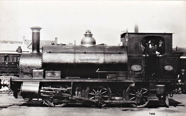 BURRY PORT & GWENDRAETH VALLEY RAILWAY - No.5 CWM MAWR - Eager 0-6-0ST built 04/05 by Avonside Engine Co. - 1922 to GWR as No.2195, name removed - 01/53 withdrawn from 82C Swindon - seen here as built. The BP&GVR was a mineral railway constructed along the line of a canal in Carmarthenshire to connect collieries and limestone pits to the sea at Kidwelly. It extended its network to include Burry Port, Trimsaran and a brickworks at Pwll, later extending to Sandy near Llanelli. The BP&GVR was notable because of the very low height of some overbridges, a legacy of the canal conversion. It was completely dependent on the economy of the mineral industries it served and due to depression in them, it was for many years in administration. In the final years of the nineteenth century those industries developed considerably and the fortunes of the BP&GVR improved as well  before absorption by the Great Western Railway in 1922. From 1913 the Company carried the general public in passenger trains. After 1945 mineral extraction in the area declined steeply; passenger operation ceased in 1953, and in the 1960s most of the network closed progressively as pits closed. The final short section at Kidwelly closed in 1998.