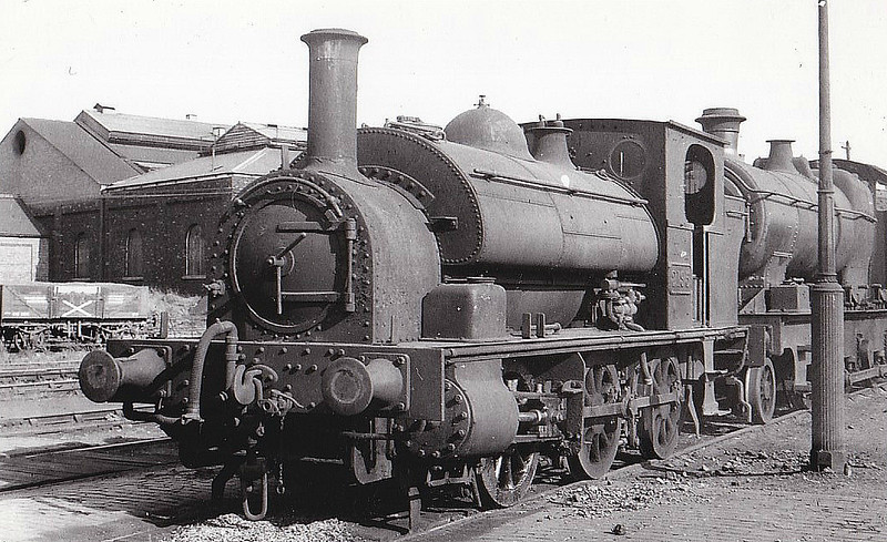 BURRY PORT & GWENDRAETH VALLEY RAILWAY - No.5 CWM MAWR - Eager 0-6-0ST built 04/05 by Avonside Engine Co. - 1922 to GWR as No.2195, name removed - 01/53 withdrawn from 82C Swindon - seen here as GWR No.2195.<br /> The BP&GVR was a mineral railway constructed along the line of a canal in Carmarthenshire to connect collieries and limestone pits to the sea at Kidwelly. It extended its network to include Burry Port, Trimsaran and a brickworks at Pwll, later extending to Sandy near Llanelli. The BP&GVR was notable because of the very low height of some overbridges, a legacy of the canal conversion. It was completely dependent on the economy of the mineral industries it served and due to depression in them, it was for many years in administration. In the final years of the nineteenth century those industries developed considerably and the fortunes of the BP&GVR improved as well  before absorption by the Great Western Railway in 1922. From 1913 the Company carried the general public in passenger trains. After 1945 mineral extraction in the area declined steeply; passenger operation ceased in 1953, and in the 1960s most of the network closed progressively as pits closed. The final short section at Kidwelly closed in 1998.