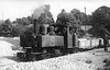 ASHOVER LIGHT RAILWAY - JOAN - 4-6-0T built 1917 by Baldwin Locomotive Works No.44720 - 1948 out of use, 1951 scrapped - seen here at Ashover in 1947.<br /> The Ashover Light Railway was a 597 mm narrow gauge railway in Derbyshire that connected Clay Cross and Ashover. It was built by the Clay Cross Company to transport minerals such as limestone, fluorite, barytes and gritstone to its works at Clay Cross. The line was 7.25 miles long and opened to goods traffic in 1924 and to passenger traffic in March 1925. The line was built using surplus equipment from the War Department Light Railways. Although the line was built principally to carry mineral traffic, its passenger service proved successful during the mid-1920s, but competition from buses saw numbers decline and passenger services were withdrawn in 1936.  The mineral traffic continued but the railway declined through the 1940's. In 1949 the railway's last remaining contract with Butts quarry was terminated and the quarry closed in 1950. The railway closed on 31 March 1950.