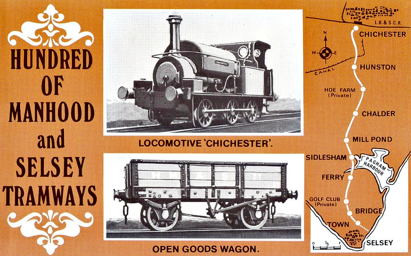 SELSEY TRAMWAY - CHICHESTER - 0-6-0ST - built 1903 by Hudswell Clarke Ltd for industrial use - withdrawn and broken up before 1935 - the tramway owned 4 such open wagons.<br /> The Hundred of Manhood and Selsey Tramway, to give its full title, ran from Chichester to Selsey, a distance of 7.25 miles, and opened to Selsey Town in August 1897. In 1898, the line was extended to Selsey Beach, this extension closing in 1908. The line prospered until the early 1920's but thereafter traffic dropped off alarmingly and the line closed in 1935.
