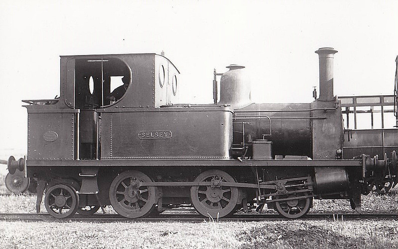 SELSEY TRAMWAY - SELSEY - 2-4-2T built 1897 by Peckett & Sons - new to the line - 1935 scrapped on closure of the line.<br /> The Hundred of Manhood and Selsey Tramway, to give its full title, ran from Chichester to Selsey, a distance of 7.25 miles, and opened to Selsey Town in August 1897. In 1898, the line was extended to Selsey Beach, this extension closing in 1908. The line prospered until the early 1920's but thereafter traffic dropped off alarmingly and the line closed in 1935.