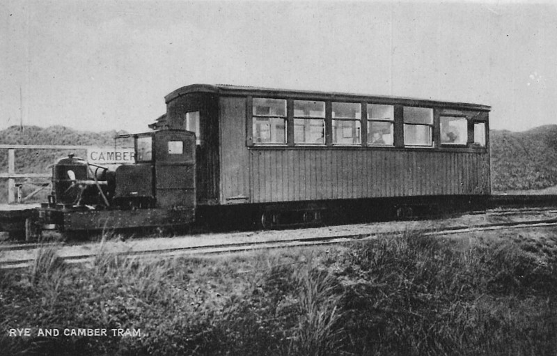 RYE & CAMBER TRAMWAY - DIESEL LOCOMOTIVE - 0-4-0PM - built 1924 by Kent Construction Co., based on a Simplex locomotive - used as principal motive power in later years - 1946 scrapped.