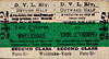 DERWENT VALLEY LIGHT RAILWAY TICKET - WHELDRAKE to YORK LAYERTHORPE - Second Class Monthly Return, fare 3s od.