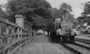 METROPOLITAN RAILWAY - BRILL TRAMWAY - WOOD SIDING STATION - Wood Siding Station in 1935. The bridge on the left carries the branch over the GWR line to Birmingham