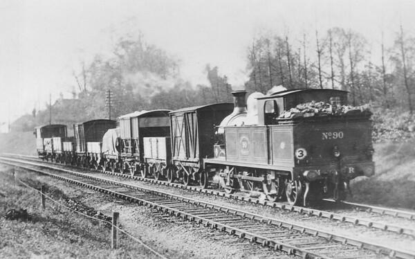 METROPOLITAN RAILWAY - 90 - Metropolitan Class F 0-6-2T - built 1901 by Yorkshire Engine Co.  - 1935 to LT as No.L49 - 1962 withdrawn.