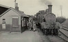 METROPOLITAN RAILWAY - BRILL TRAMWAY - BRILL STATION - Passengers disembarking at Brill Station - this train seems to be very well patronised - seen here in 1935.