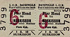 LIVERPOOL OVERHEAD RAILWAY TICKET - PIER HEAD - Third Class Single to Huskisson - fare 4 1/2d. There were 17 stations on the LOR, numbered 1 to 17, north to south. The large red number refers to the destination station.