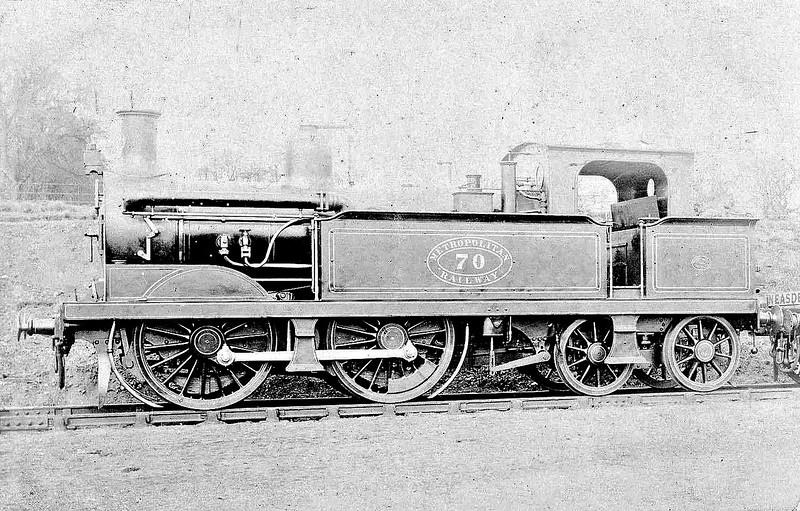 METROPOLITAN RAILWAY - 70 - Metropolitan Class C 0-4-4T - built 1891 by Neilson & Co. as MR No.70 - all withdrawn around 1920.