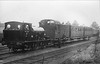 """EASINGWOLD RAILWAY - No.2 - 0-6-0ST built 05/03 by Hudswell Clarke & Co., Works No.608 - 1948 withdrawn - seen here at Easingwold Station with what must be just about all of the line's passenger stock.<br /> The Easingwold Railway was a privately owned standard-gauge railway in the Vale of York that ran from Alne Station on the East Coast Main Line to the village of Easingwold. At 2.5 miles long, the Easingwold Railway prided itself as """"England's Shortest Standard Gauge"""". The line opened on July 25th, 1891, and closed on December 27th, 1957. After the scrapping of No.2, various small tank engines were hire in locally from BR."""