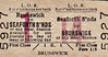 LIVERPOOL OVERHEAD RAILWAY TICKET - SEAFORTH SANDS - First Class Return to Brunswick - fare 1s 5d.