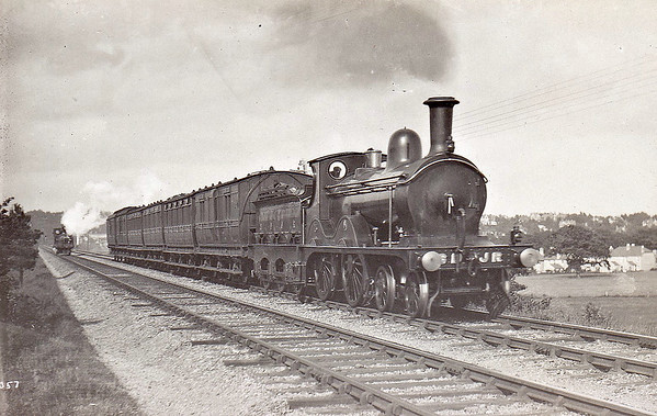 SOMERSET & DORSET JOINT RAILWAY - 15 - Johnson Class 2P 4-4-0 - built 1891 by Derby Works as S&DJR No.15 - 1928 to S&DJR No15, 1930 to LMS No.301 - 1931 withdrawn.