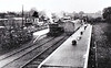 KENT & EAST SUSSEX RAILWAY - TENTERDEN TOWN STATION - Opened on March 16th, 103, and closed on January 4th, 1954, Tenterden was the terminus of the K&ESR. Facilities were not lavish, as can be seen. A terrier tank awaits departure with a train for Robertsbridge in about 1910. <br /> The Kent & East Sussex Railway, although only 11.5 miles in length, was opened piecemeal between 1900 and 1904. It ran between Tenterden and Robertsbridge and was one of Colonel Stephens' railways. It never ran at a profit and became part of BR in 1948. The last passenger train ran in June 1961 and the final section closed to freight in January 1970. Since then, it has been revived by a preservation group.