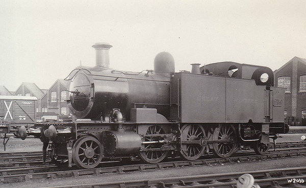 MERSEY RAILWAY - No.16 - Mersey Railway Class III 2-6-2T - built 1891 by Kitson & Co. - 1903 system electrified - 1908 sold to Alexandra Dock Railway as No.25 - 1923 to GWR No.1199, as seen here - withdrawn 03/31.