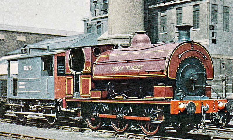 LONDON TRANSPORT - L53 - Class S 0-6-0ST - built 1897 by Peckett & Co., Works No.664, as Metropolitan Railway No.101 - 1935 to LT No.L53 - Finchley Road shunter - seen here shunting at Neasden in 1967.