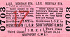 LIVERPOOL OVERHEAD RAILWAY TICKET - HUSKISSON - Third Class Monthly Return to Southport (LMS) - fare 3s 8d. The LOR had running powers into  the LMS station at Southport.