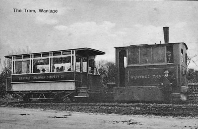 WANTAGE TRAMWAY - No.6 - built 1880 to James Matthews' patent. The Wantage Tramway Company was a two-mile tramway that carried passengers and freight between the Oxfordshire town of Wantage and Wantage Road Station on the Great Western Main Line. Formed in 1873 to link Wantage Road station with its terminus at Mill Street, Wantage the line was cheaply built parallel to what was then the Besselsleigh Turnpike, and now the A338. The tramway closed to passengers in 1925 and to goods traffic in 1945.