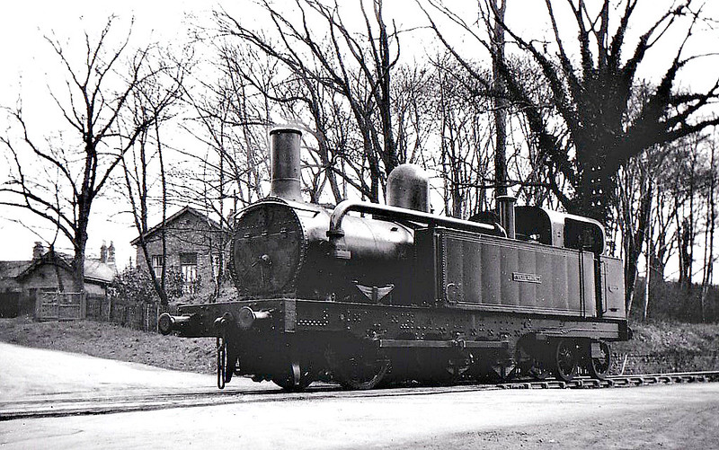 MERSEY RAILWAY - No.5 CECIL RAIKES - MR Class 1 0-6-4T - built 1886 by Beyer Peacock Ltd - 1903 sold to Shipley Collieries for £750 - 1954 withdrawn, to store at Derby Works - 1965 to Liverpool Museum - seen here at Woodside Colliery, 09/52 - note condensing gear still in place. <br /> The Mersey Railway connected Liverpool and Birkenhead, which lie on opposite banks of the River Mersey, via the Mersey Railway Tunnel from 1886 to 1948. The railway opened with four stations using steam locomotives hauling unheated wooden carriages; in the next six years the line was extended and three more stations opened. However, the steam locomotives created a polluted atmosphere in the tunnel, passengers reverted to using the river ferries and the railway was bankrupt by 1900. Recovery came after the railway adopted electric traction in 1903. The Mersey Railway remained independent in the railway grouping of 1923 but was nationalised in 1948.