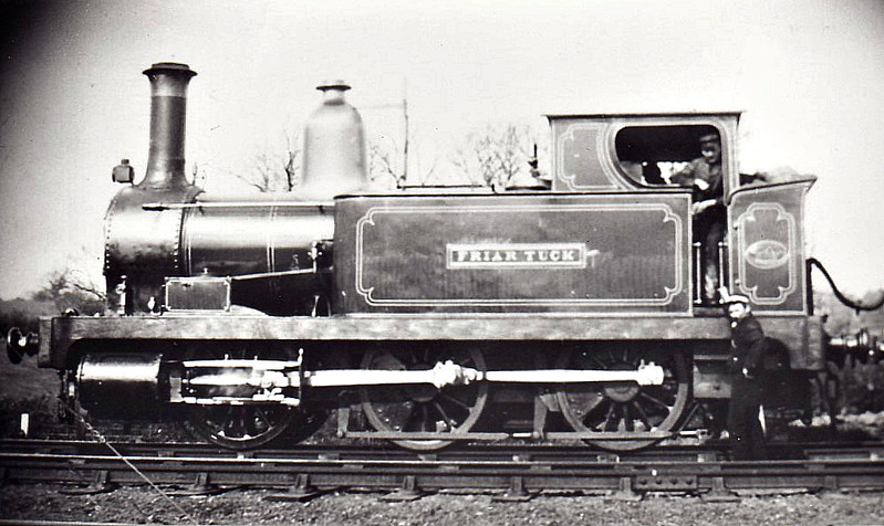 SEVERN & WYE RAILWAY - FRIAR TUCK - 0-6-0T - built 1870 by Avonside Engine Co. to broad gauge - 1872 converted to standard gauge - 1896 to MR as No.1605, 1907 to MR No.1122A - 1911 withdrawn.<br /> The Severn & Wye Railway operated an extensive network of mainly mineral lines that extended from Sharpness, across the River Severn and throughout the Forest of Dean, starting life as early as 1810 as horse-drawn plateway built to 3ft 6in. gauge. In 1868 the Railway was converted to broad gauge and in 1872 to standard gauge. In 1896, deeply in debt, the whole system was sold jointly to GWR & MR, the latter taking responsibility for rolling stock, the former for the permanent way. the 1923 Grouping saw the line pass into the joint ownership of the LMS and GWR and economies started almost at once. Most passenger services were withdrawn from 1929 and freight operations rapidly declined from 1945 onwards. By 1968 the railway was no longer.
