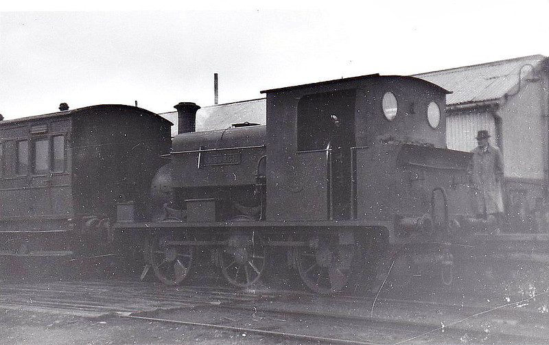 NORTH SUNDERLAND RAILWAY - BAMBURGH - built 1898 by Manning Wardle, Works No.1394 - 1948 scrapped - seen here on an SLS Rail Tour. <br /> The North Sunderland Railway ran from Chathill on the ECML to the fishing village of Seahouses, just over 4 miles away. The line opened in 1898 and January 1939 was taken over by the LNER to settle large debts to the latter. Trains ceased to run on October 27th, 1951. The company only ever owned 2 engines, this one and a small diesel. Other motive power was hired in from the LNER as required.