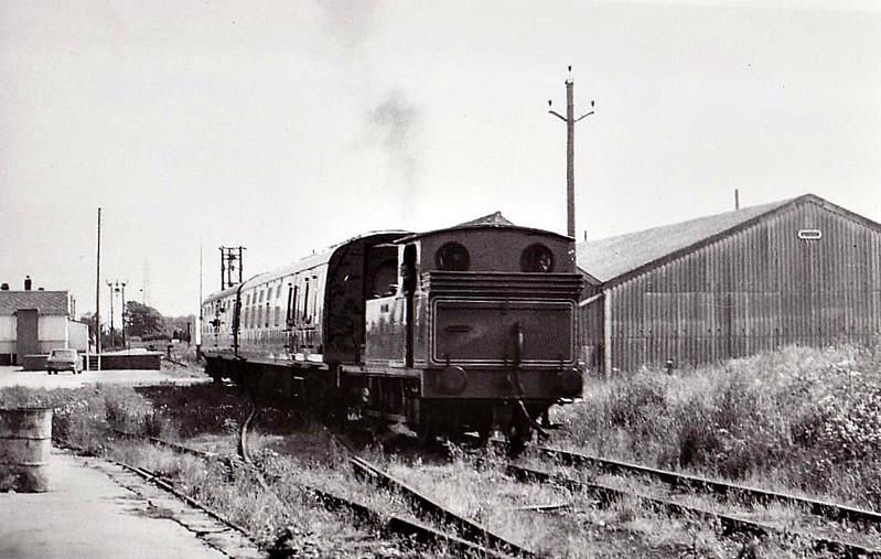 DERWENT VALLEY LIGHT RAILWAY - 69023 - Worsdell NER Class E1 LNER Class J72 0-6-0 - built 04/51 by Darlington Works - 10/62 withdrawn from 52A Darlington - seen here at Dunnington in the late 70's when for 2 years steam passenger trains operated between there at Layerthorpe - loco now preserved on NYMR. <br /> The Derwent Valley Light Railway was a privately owned standard-gauge railway in North Yorkshire and was unusual in that it was never nationalised, remaining as a private operation all its life. It ran between Layerthorpe on the outskirts of York to Cliffe Common near Selby. It opened in two stages, in 1912 and 1913, a total of 16 miles, and closed in sections between 1965 and 1981.
