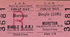 LIVERPOOL OVERHEAD RAILWAY TICKET - DINGLE - Third Class Cheap Day Return to Moreton, via James Street and the LMR - fare 1s 8d.