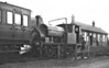 """EASINGWOLD RAILWAY - No.2 - 0-6-0ST built 05/03 by Hudswell Clarke & Co., Works No.608 - 1948 withdrawn - seen here at Easingwold Station. <br /> The Easingwold Railway was a privately owned standard-gauge railway in the Vale of York that ran from Alne Station on the East Coast Main Line to the village of Easingwold. At 2.5 miles long, the Easingwold Railway prided itself as """"England's Shortest Standard Gauge"""". The line opened on July 25th, 1891, and closed on December 27th, 1957. After the scrapping of No.2, various small tank engines were hire in locally from BR."""