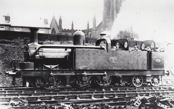 MERSEY RAILWAY - No.3 DUKE OF LANCASTER - built 12/1885 by Beyer Peacock & Co. - 1905 to Alexandra Dock Railway as No.23, 1923 to GWR as No.1345 - 10/23 withdrawn.