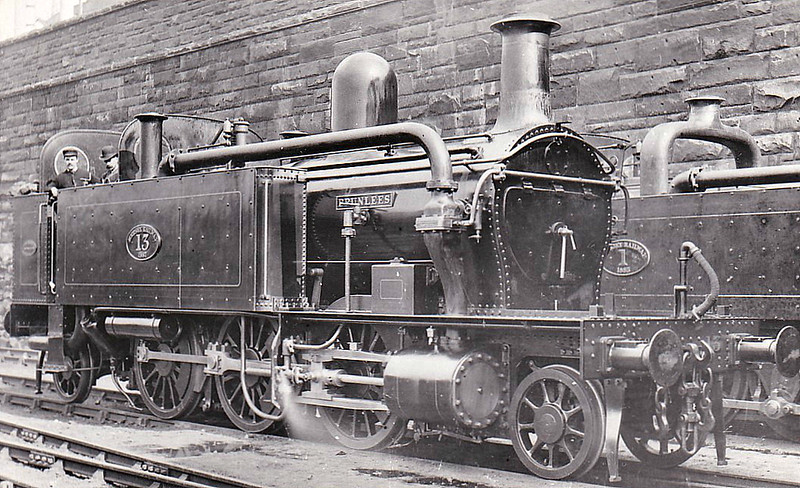 MERSEY RAILWAY - No.13 BRUNLEES - Class II 2-6-2T - built 1887 by Beyer Peacock & Co. - 1903 when electrification completed all Class II locomotives sold to Alexandra Dock Co., Newport, No.6-11, 1923 to GWR Nos.1201, 1204, 1207/8/9 and 1211 - all withdrawn by December 1929 from Newport Pill MPD.