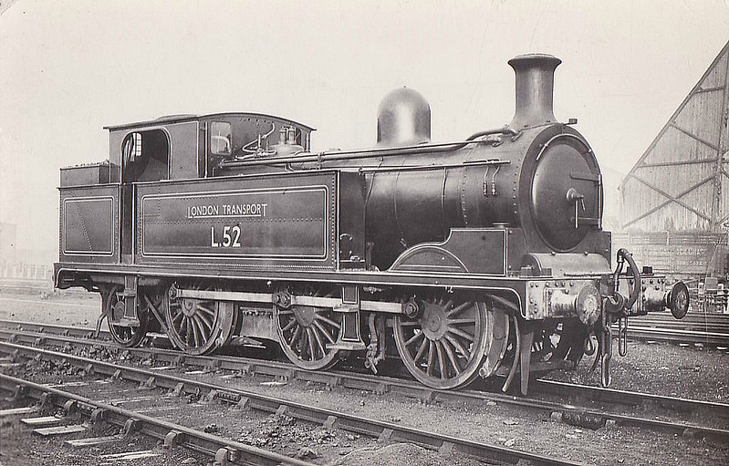 LONDON TRANSPORT - L52 - Metropolitan Class F 0-6-2T - built 1901 by Yorkshire Engine Co. as MR No.93 - 1935 to LT as No.L52 - 1962 withdrawn.