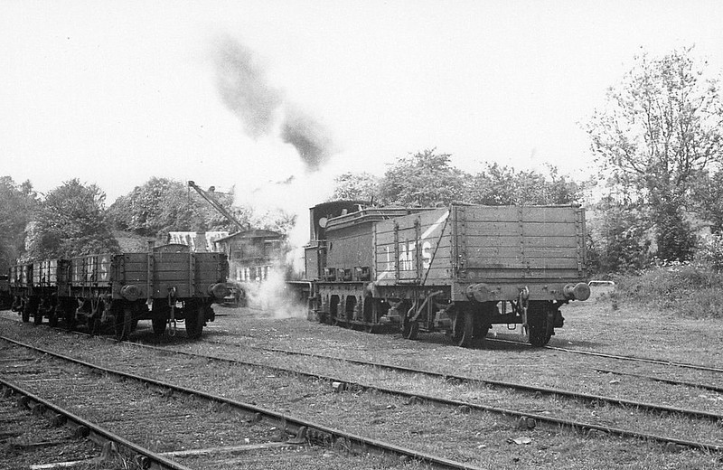 BISHOPS CASTLE RAILWAY - CARLISLE - 0-6-0 - built 1868 as 0-6-0ST by Kitson & Co. in 1868 for Thomas Nelson & Co. of Carlisle - seen here at Plowden in 1936.<br /> The Bishops Castle Railway was begun in 1861, planned as a line from Craven Arms to Montgomery, thus linking the Shrewsbury to Hereford line to the Oswestry to Newtown line, with a branch line from Lydham to Bishop's Castle. From the start, the railway was hampered by shortage of capital. Although the company continued to build, the line ultimately only reached Bishop's Castle and was sold in 1867. In January 1867, a sale by auction of property belonging to the company was held in Shrewsbury. A receiver was appointed to run the railway. The Bishops Castle Railway Company remained in receivership for 69 years and 2 months until it closed in April 1935. The line was lifted in February 1937.