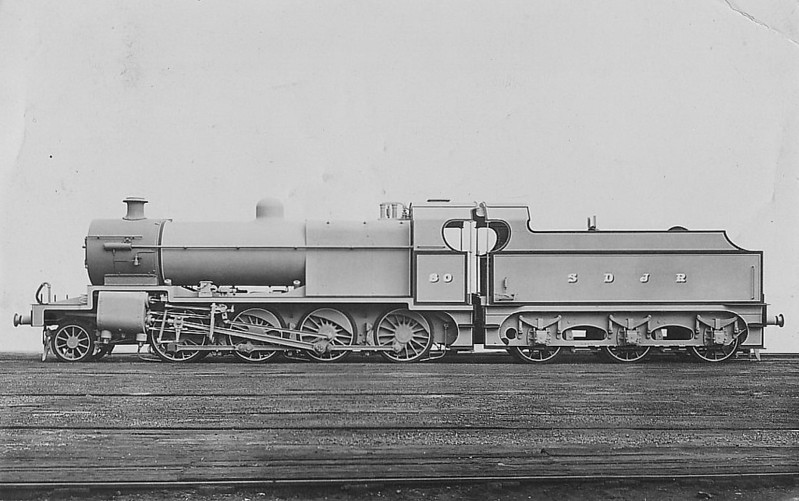 SOMERSET & DORSET JOINT RAILWAY - 80 - Fowler SDJR/LMS Class 7F 2-8-0 - built 02/14 by Derby Works - 1930 to LMS No.9670, 1932 t LMS No.13800, 05/49 to BR No.53800 - 06/59 withdrawn from 22C Bath Green Park.