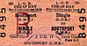 LIVERPOOL OVERHEAD RAILWAY TICKET - DINGLE - Third Class Cheap Day Return to Southport (LMR), fare 3s 1d.