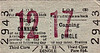 LIVERPOOL OVERHEAD RAILWAY TICKET - CANNING - Third Class Two Day Return to Dingle - fare 5 1/2d. There were 17 stations on the LOR, numbered 1 to 17, north to south. The large red number refers to the destination station.