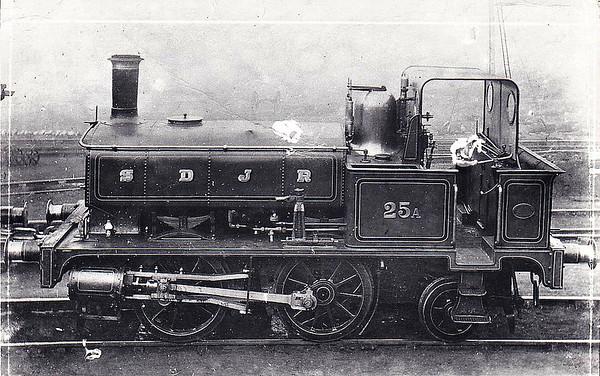 SOMERSET & DORSET JOINT RAILWAY - 25A - SDJR 'Bobby Dazzler' Class 0-4-2T - built 1885 by Highbridge Works - 1929 withdrawn.