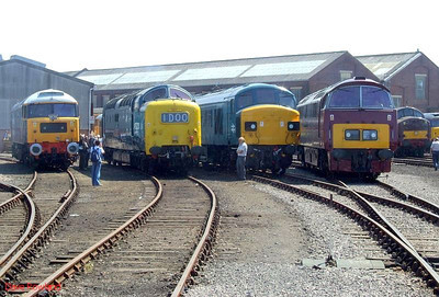 47580, 55022, 45060, D1015 Eastleigh Works Centenary open day, 25th May 2009.