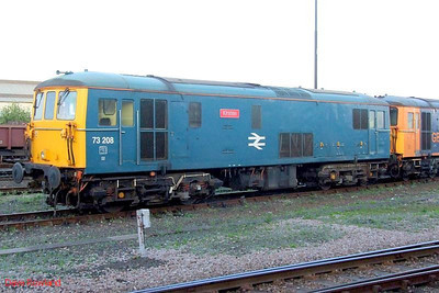 """BR blue 73208 """"Kirsten"""" Eastleigh. 21st May 2009."""